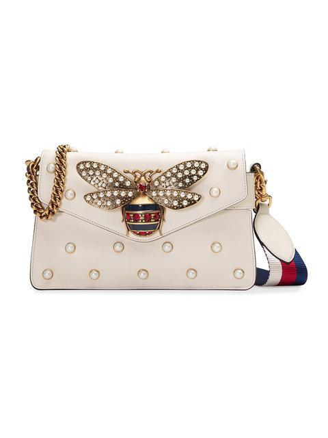 964701280e5 Gucci Broadway Leather Clutch - Neutrals