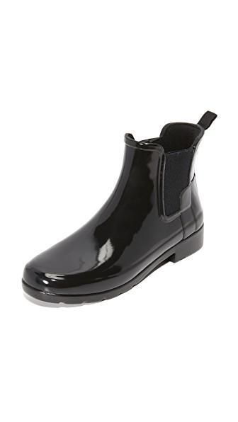be40836dc Hunter Original Refined Mixed Finish Waterproof Rain Boot In Black ...
