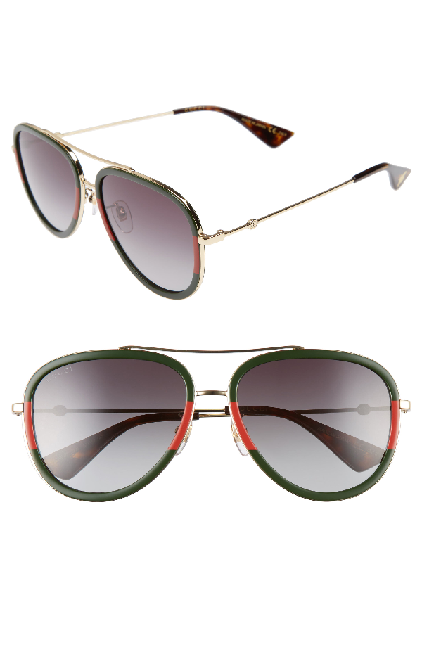 8ef5dc79096 Gucci Web Aviator Sunglasses