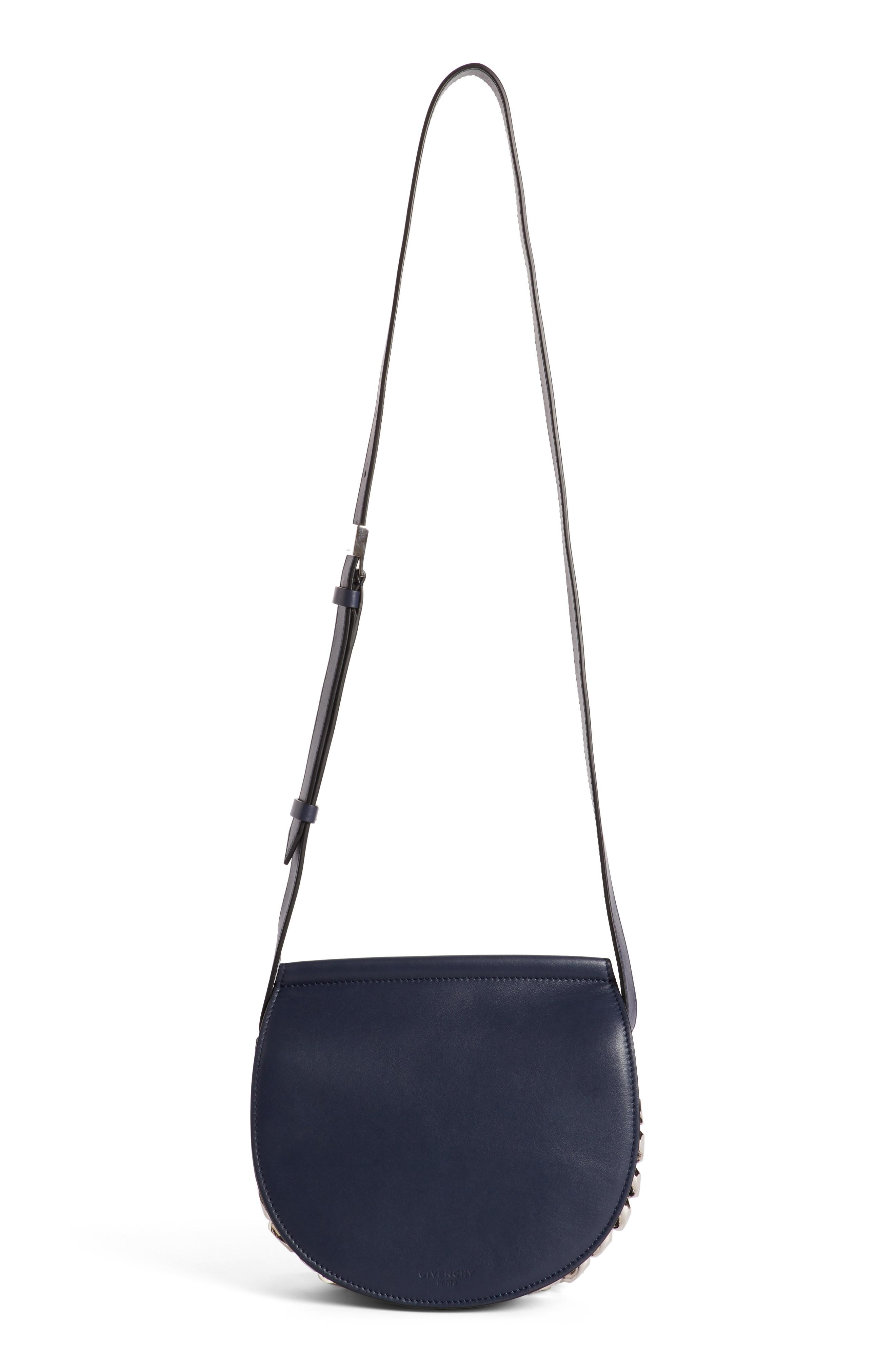 Givenchy Mini Infinity Calfskin Leather Saddle Bag - Blue In Night Blue 47e573d05c67c
