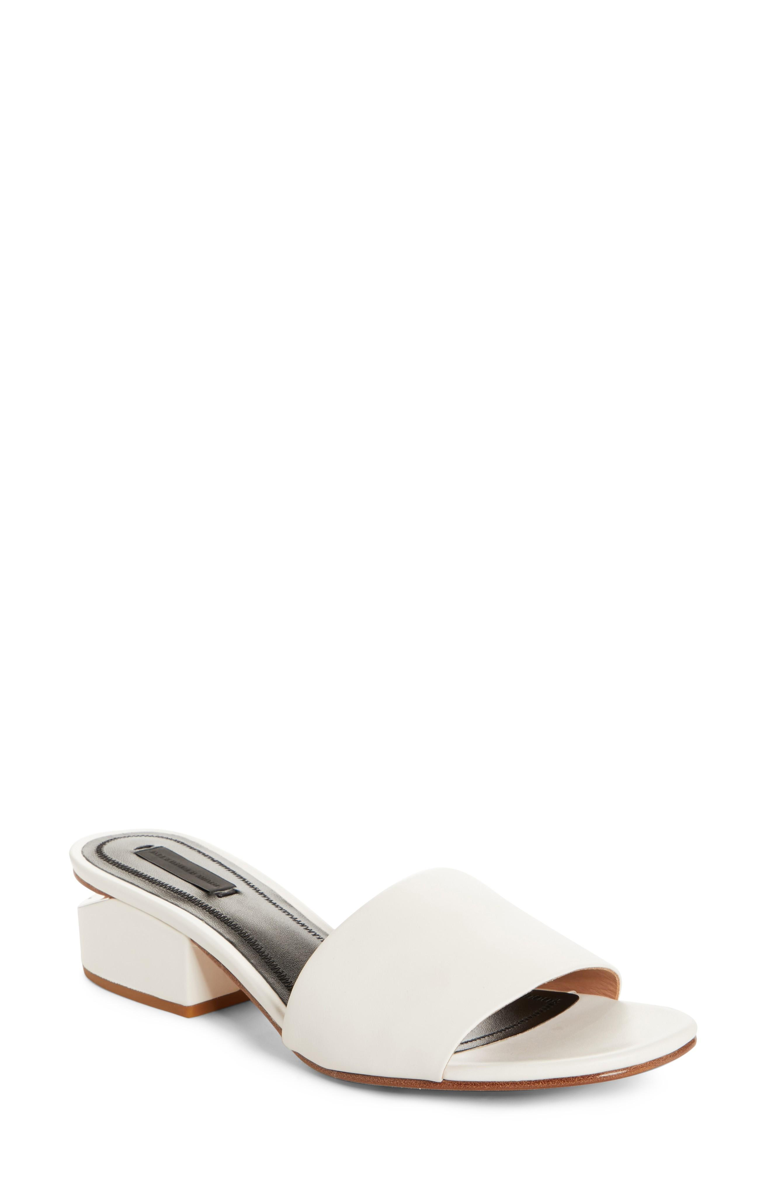 e14abd23233 Alexander Wang Lou Slide Sandal In Milk