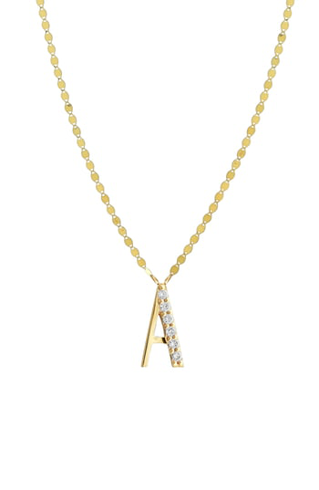 Lana Initial Pendant Necklace In Yellow Gold