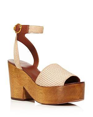 d276b1a085a7 ... favorite looks with an ankle-strap sandal set on a curvy platform heel  with a rich woodgrain. Style Name  Tory Burch Camilla Genuine Calf Hair  Platform ...