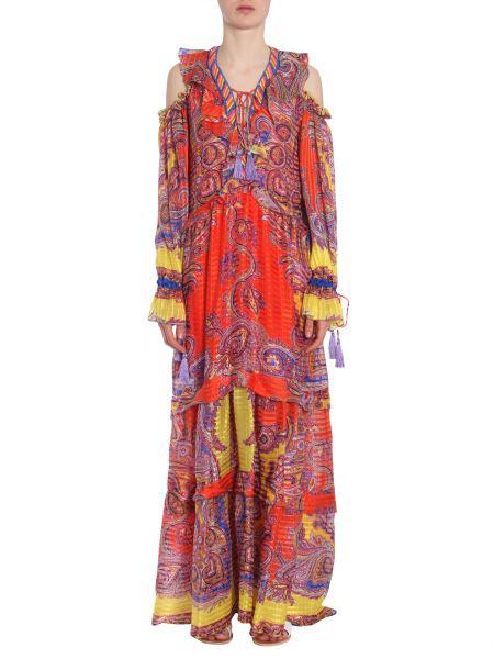 Etro Long Dress In Orange