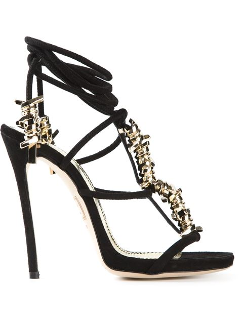 Dsquared2 Barbed Wire Sandals In Black