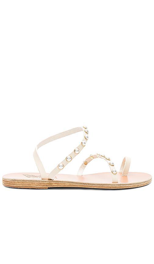 2965f6821 Ancient Greek Sandals Apli Eleftheria Pearls Sandal In Cream