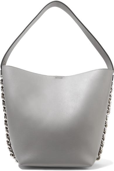 Givenchy Infinity Chain-Trimmed Leather Shoulder Bag In Gray  5a2208b0d587b