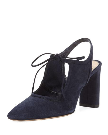 820c3be19c8 The Row Camil Suede Tie-Front Pump In Black