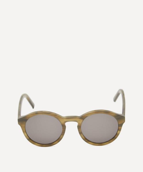 Monokel Barstow Round Sunglasses In Green