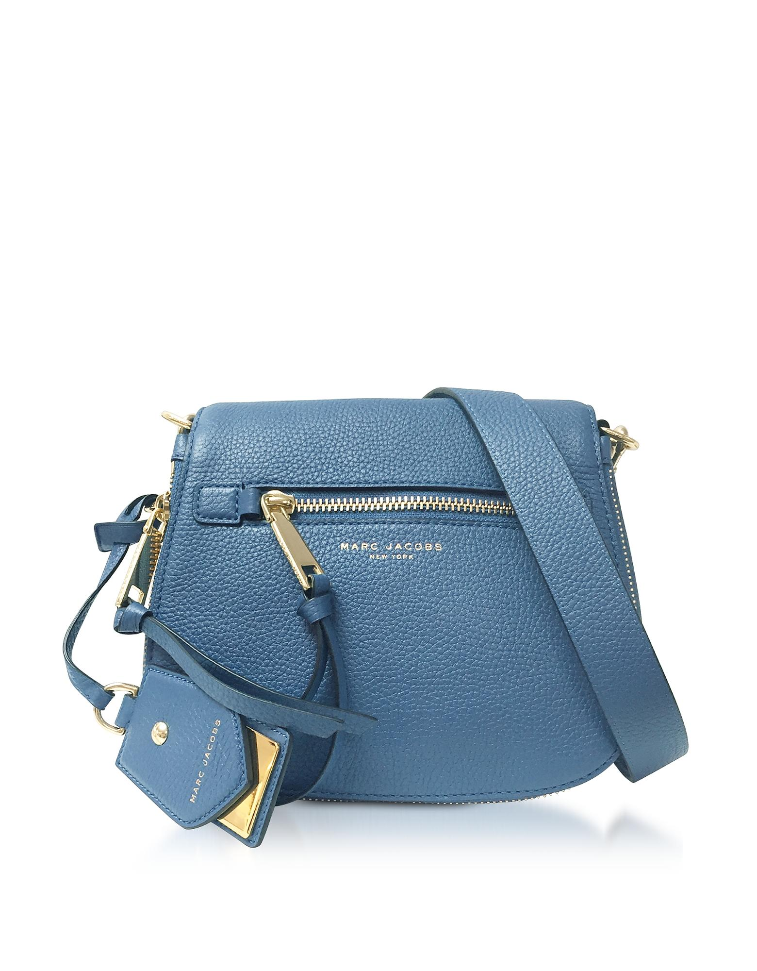 ec66967efc Marc Jacobs Small Recruit Nomad Pebbled Leather Crossbody Bag - Blue In  Vintage Blue