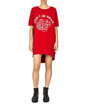 The Kooples Don'T Be Mean Sweatshirt Dress In Red