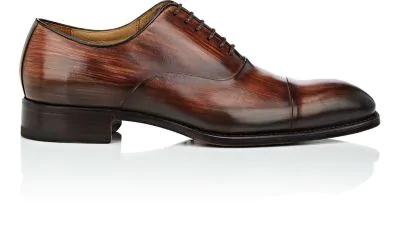 Harris Cap-Toe Burnished Leather Balmorals - Red, Brown
