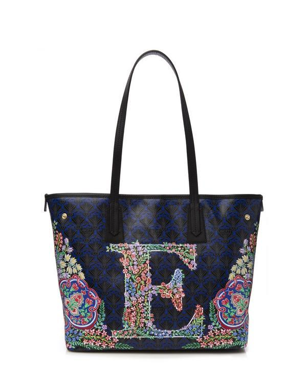 Liberty London Little Marlborough Tote Bag In E Print In Tanjore Gardens