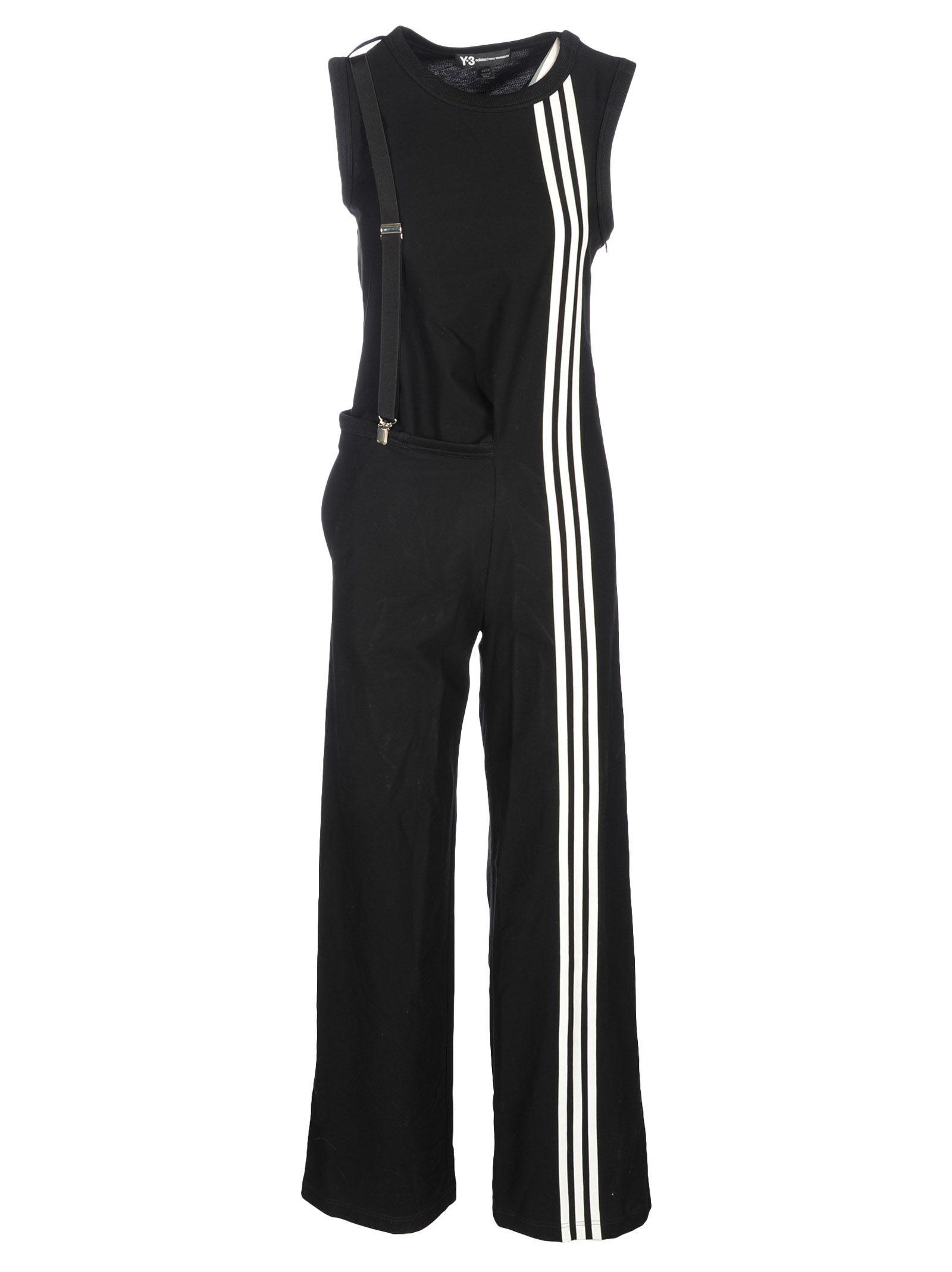 4c44c304e0e Y-3 Adidas Y3 3 Stripes Jumpsuit In Black