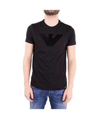 Emporio Armani Men's  Black Cotton T-Shirt