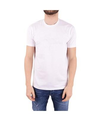 Emporio Armani Men's  White Cotton T-Shirt
