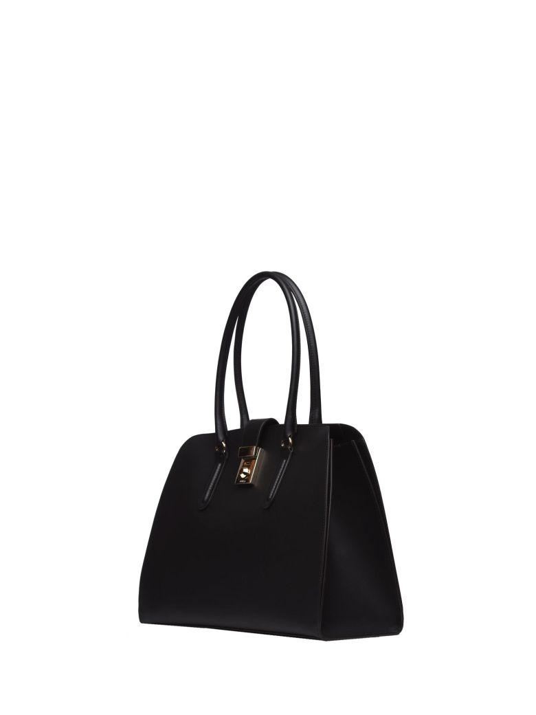 Furla Black Milano Tote In Nero