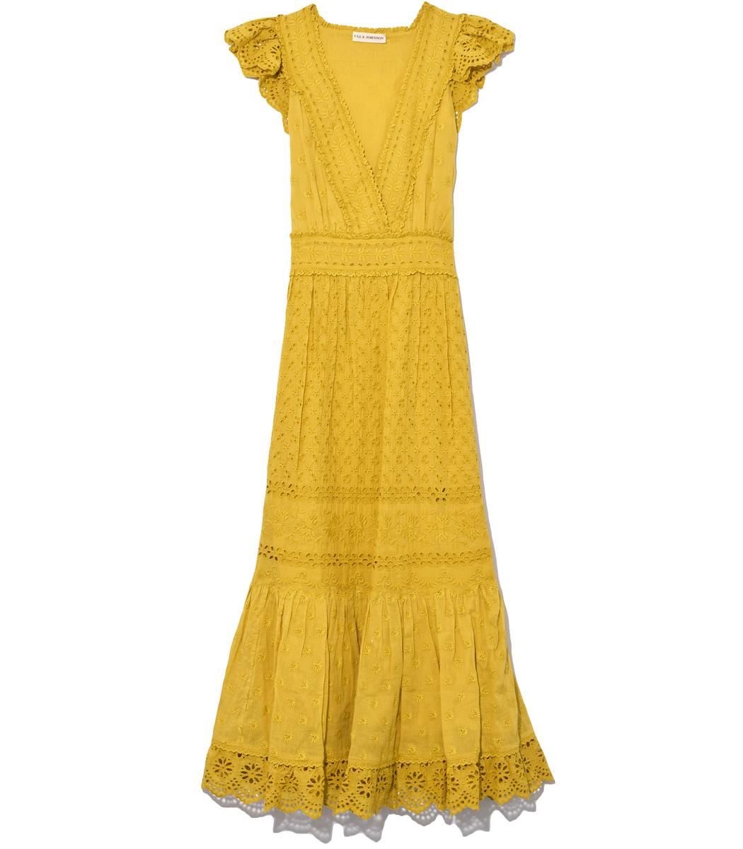 Ulla Johnson Marjorie Dress In Chartreuse