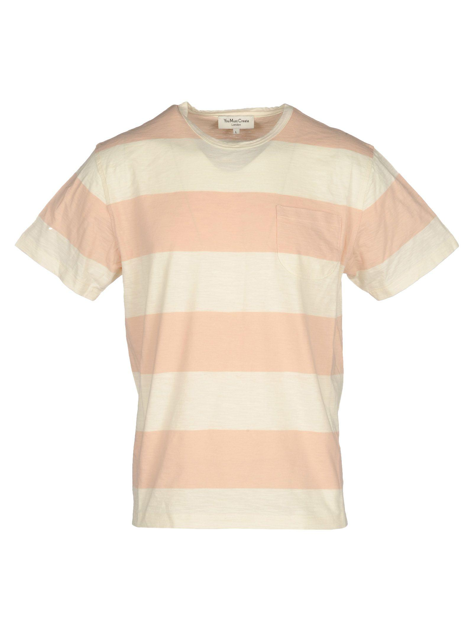 60b8f164 Ymc You Must Create Ymc Striped Style T-Shirt In Pink Stripes | ModeSens