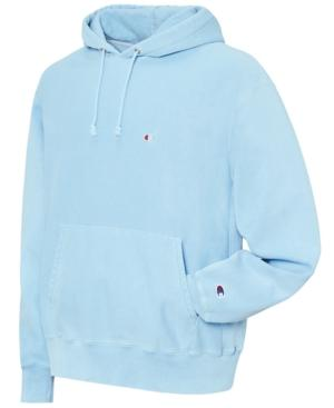 803a30652 Champion Men's Garment-Dyed Reverse Weave Hoodie In Upstate Blue ...