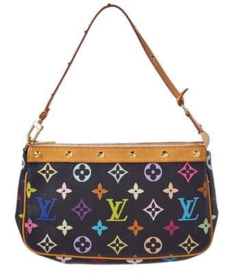 Louis Vuitton Black Monogram Multicolore Canvas Pochette Accessoires In Nocolor