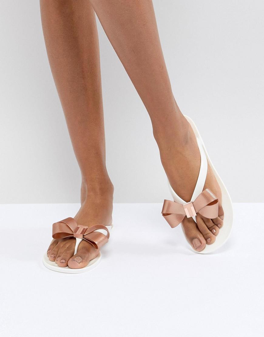 04f212b7b Ted Baker Suszie White Flip Flops - White