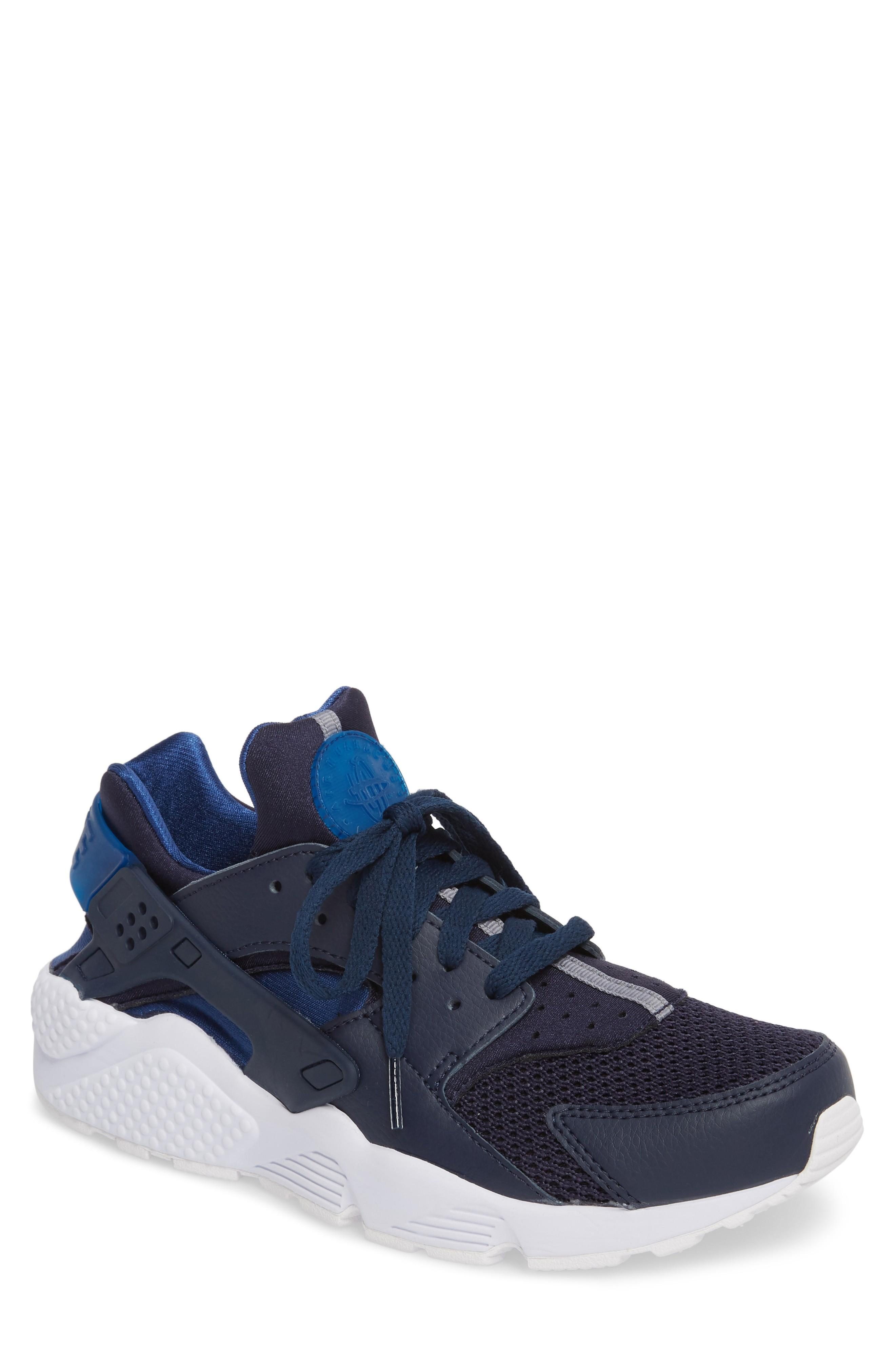 098171e695ff Nike Men s Air Huarache Run Running Sneakers From Finish Line In  Obsidian Gym Blue-