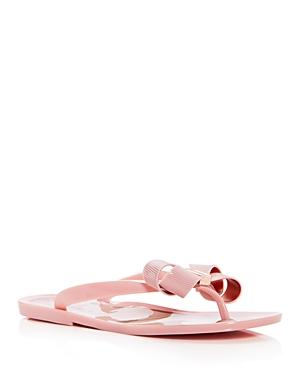 3d5c2ffeafe91d A dainty bow embellished with logo hardware dazzles on this carefree flip- flop. Style Name  Ted Baker London Suziep Flip Flop (Women).