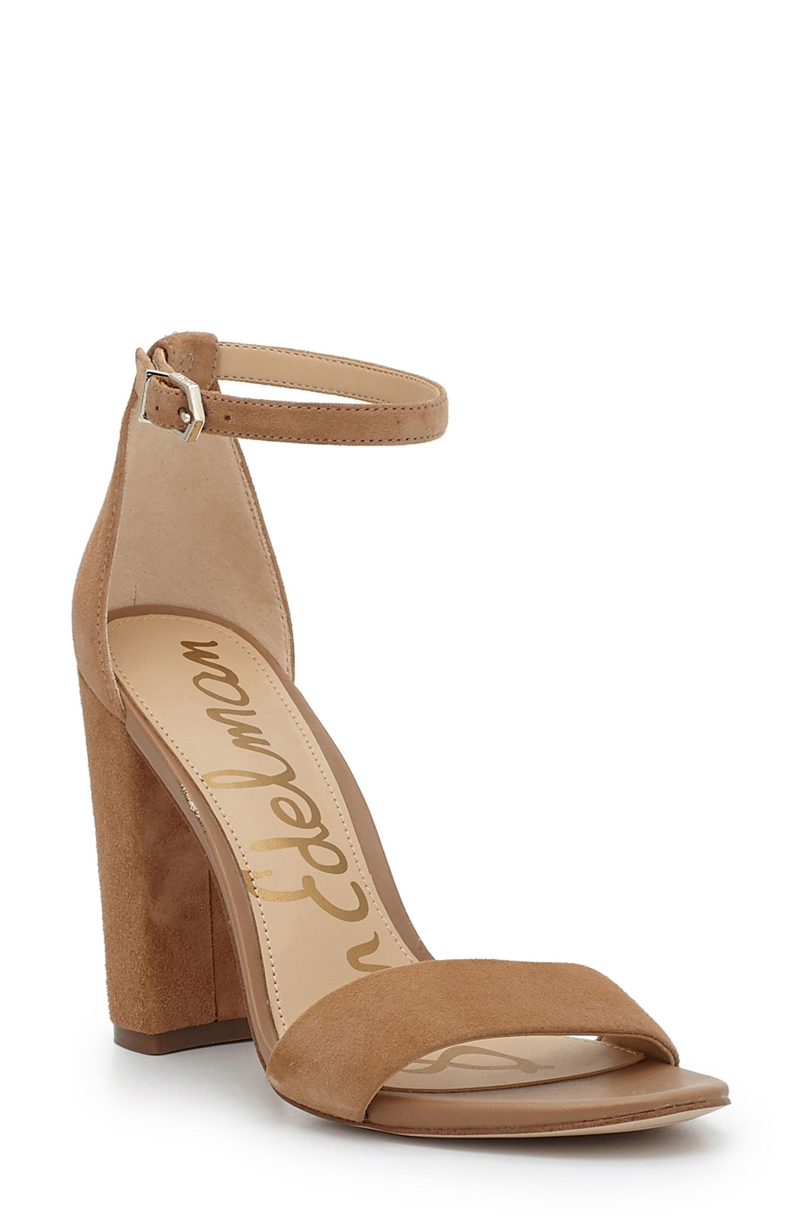 337038e311e6 Sam Edelman Yaro Ankle Strap Sandal In Golden Caramel Suede