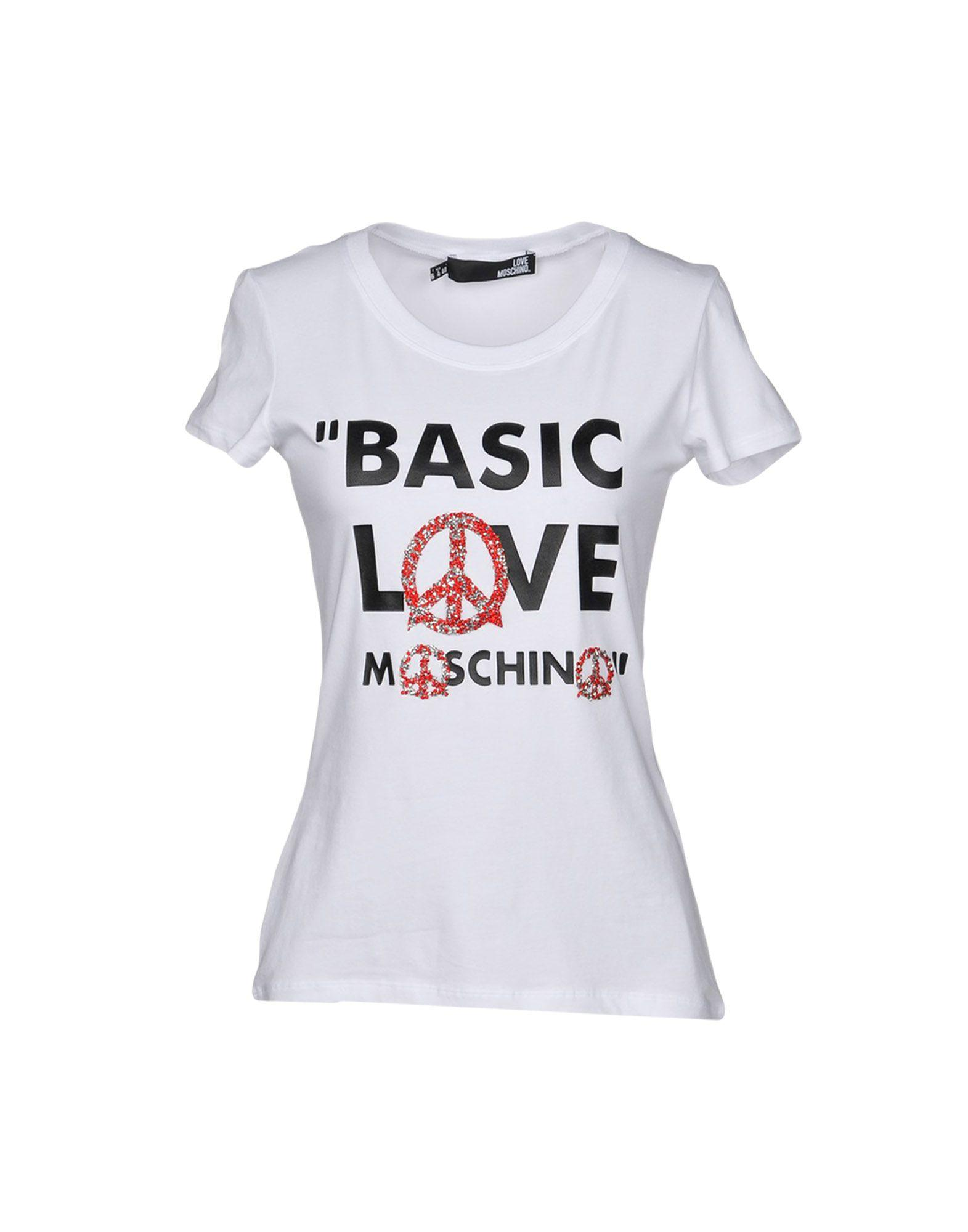 love moschino t shirts in white modesens. Black Bedroom Furniture Sets. Home Design Ideas