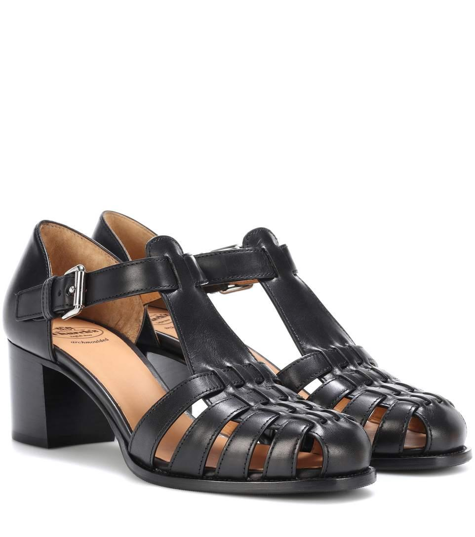 c580b27f4ae5 Church s Kelsey 50 Leather Sandals In Black