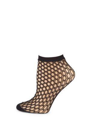 Falke Fishnet Ankle Socks In Black