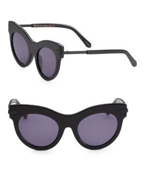 ffb8f5fc2ad Karen Walker 52Mm Miss Lark Cat-Eye Sunglasses In Black