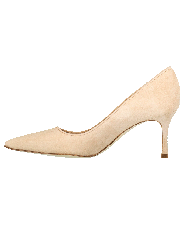 Manolo Blahnik Bb Suede 70Mm Pump, Beige