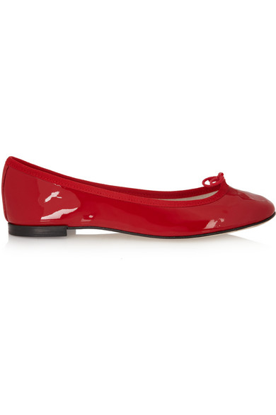 Repetto The Cendrillon Patent-leather Ballet Flats In Red