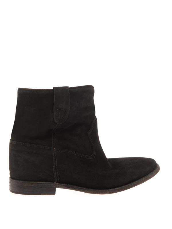 Isabel Marant Crisi Suede Boots In Black
