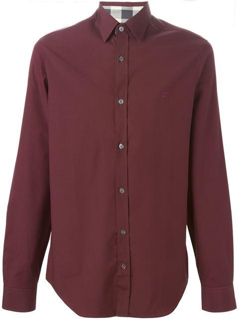 Burberry Cambridge Aboyd Sport Shirt In Oxblood