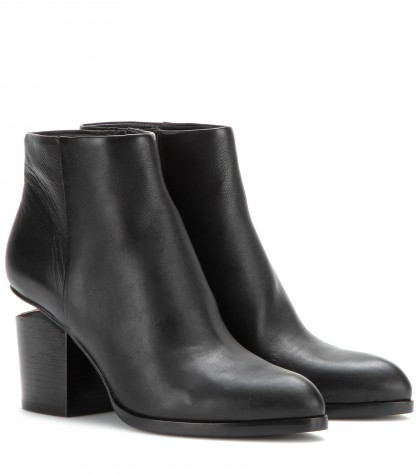 Alexander Wang Gabi Leather Ankle Boots In Llack