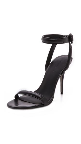 Alexander Wang Antonia Ankle Strap Sandals In Black