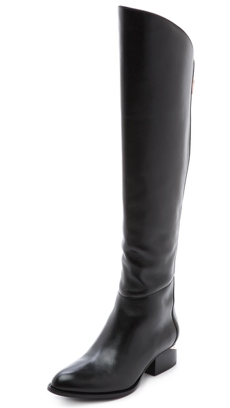 Alexander Wang Sigrid Tall Boots With Rose Gold Hardware In Black