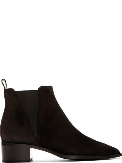 Acne Studios Black Suede Jensen Ankle Boots