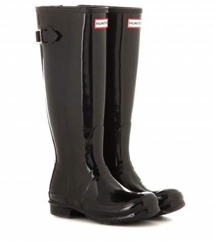 Hunter Original Tall Wellington Boots In Llack