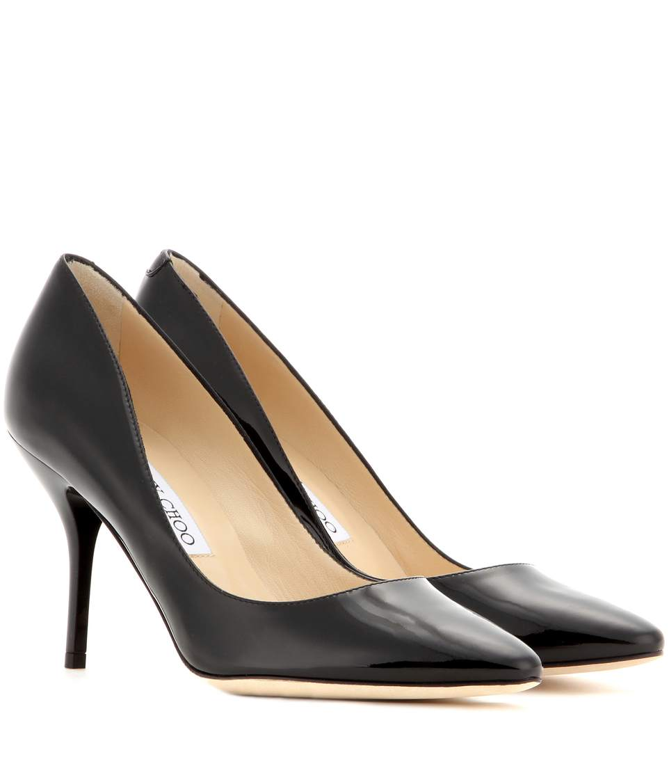 Jimmy Choo Mei Patent-leather Pumps In Llack