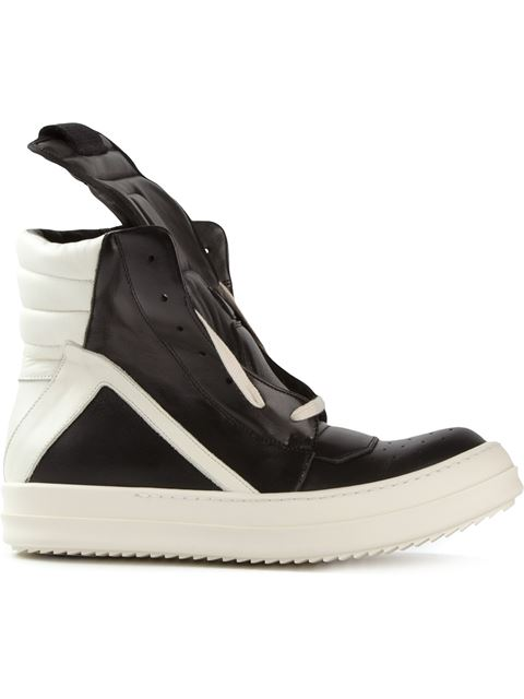 Rick Owens Laceless Hi-top Sneakers