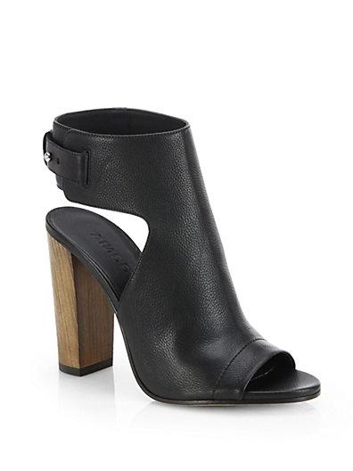 Vince Addie Leather Sandals In Black