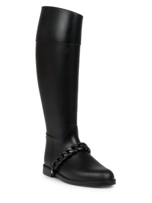 Givenchy Chain Rubber Rainboots In Black