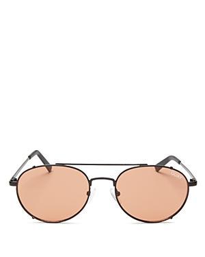 25678f246beba Quay Little J 55Mm Aviator Sunglasses - Black  Peach