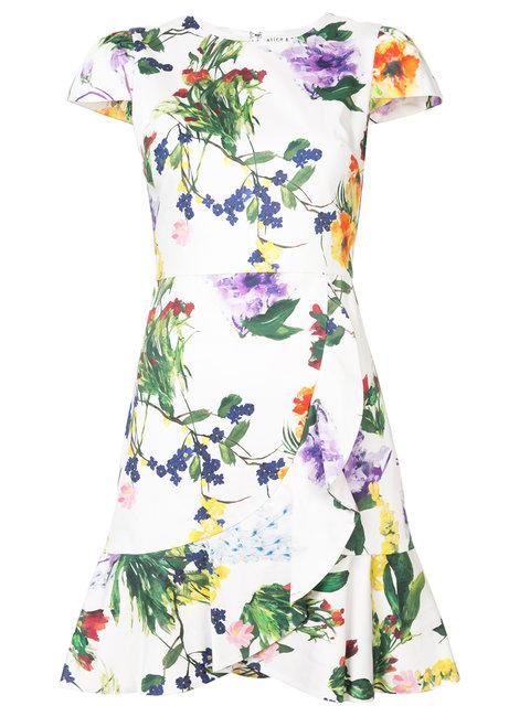 Alice And Olivia Floral Shift Dress