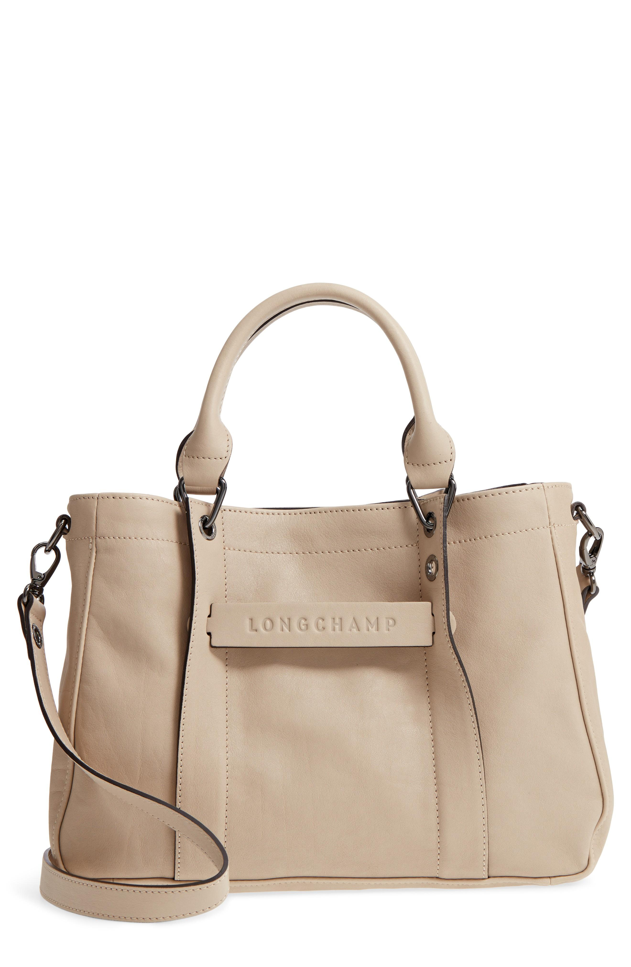 3850d7d63e3 Longchamp 'Small 3D' Leather Tote - Grey In Clay   ModeSens