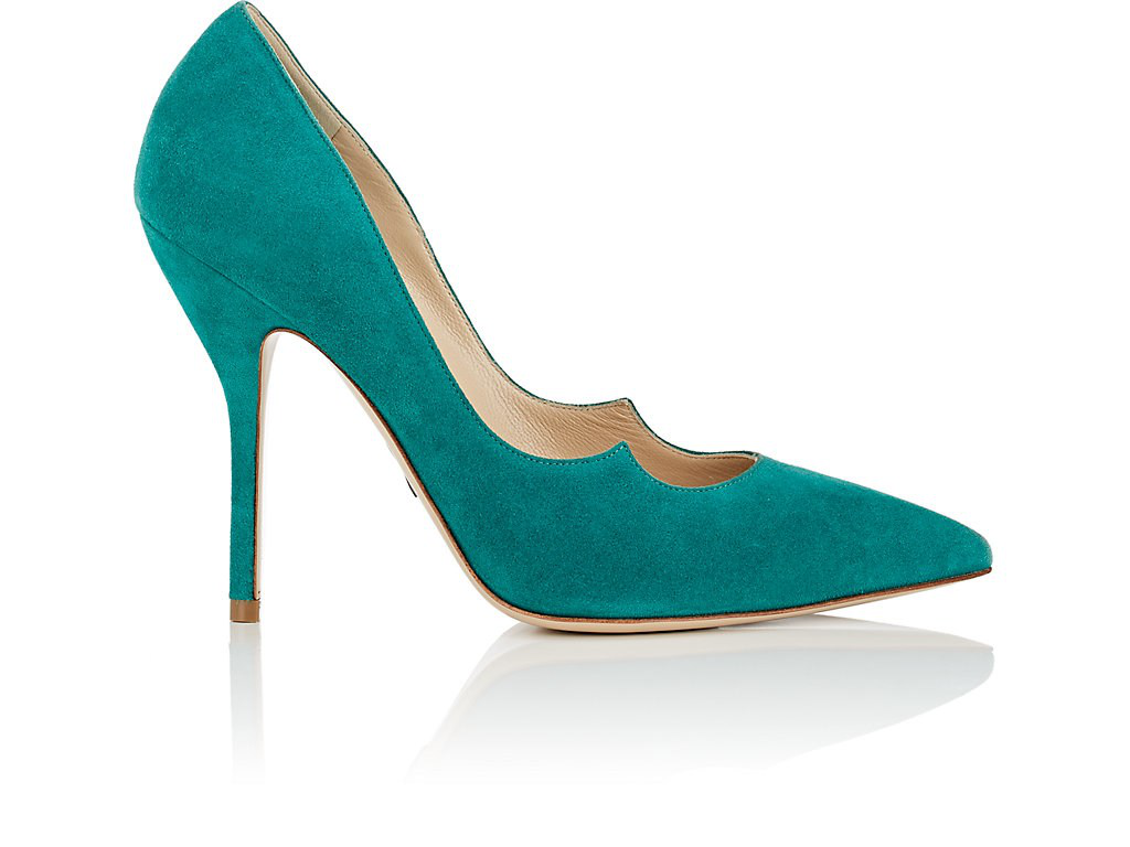 Paul Andrew Zenadia Suede Pumps In Bt. Green